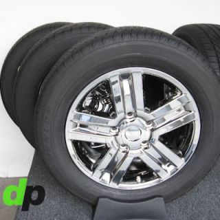 "20"" Toyota Tundra Sequoia Factory OEM Ecodriven Chrome Wheels Rims Dunlop Tires"