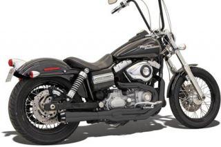 Bassani Road Rage II Mega Power Systems Black Fits 86 13 Harley FXS Low Rider