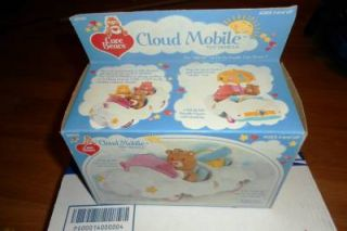 Vintage 1983 Kenner Care Bears Cloud Mobile Car Missing Blanket Umbrella Basket