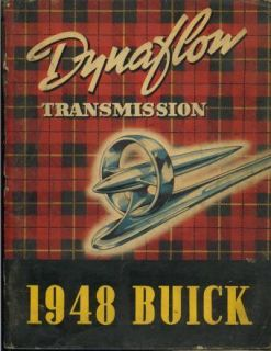 1948 Buick Dynaflow Transmission Service Repair Manual
