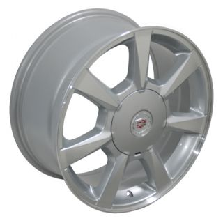 """17"""" Cadillac Silver Machined Face cts Wheels 4623 Rims 17x8"""
