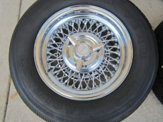 "C3 Corvette 15"" inch Tru Spoke Truspoke Wire Wheels Center Caps Cap Spinners"
