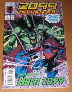 2099 Unlimited 1 1st Hulk 2099 Nice High Grade VF Comic
