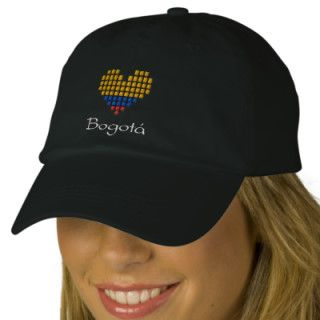 I Love Bogotá Hat   Colombian Flag Cap Embroidered Baseball Caps
