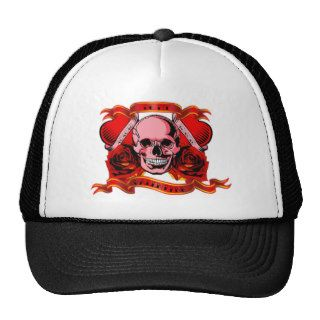 Valentine Tattoo Skull Hearts Hats