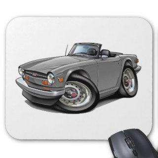 Triumph TR6 Silver Car Mouse Pad