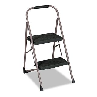 Cosco Two Step Big Step Folding Step Stool 22 45 Spread BlackPlatinum