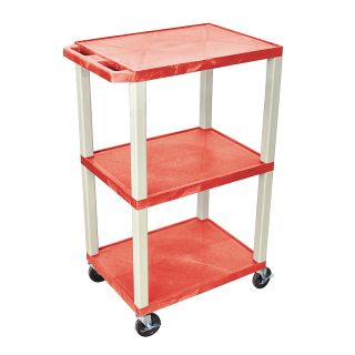 H Wilson 42 Plastic Utility Cart Red