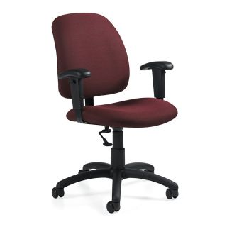 Global Goal Task Chair 39 H x 25 W x 24 12 D Black Frame Burgundy Fabric