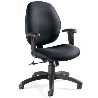 Global Graham Pneumatic Ergo Tilter Chair 37 12 H x 25 W x 26 D Black Frame Gray Fabric