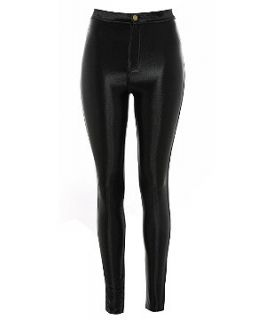 Atelier 61 Black High Shine Disco Pants