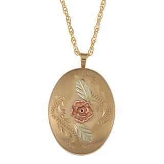 Black Hills Gold Dakota Rose Locket Necklace Black Hills Gold Black Hills Gold Necklaces