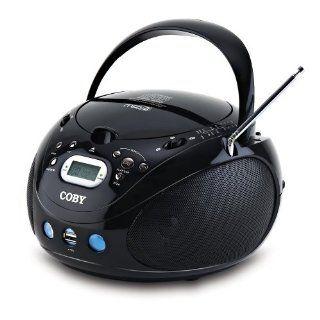 Coby MP CD471 Tragbarer CD/ Player (Radio, USB Port, LCD Display) schwarz Audio & HiFi