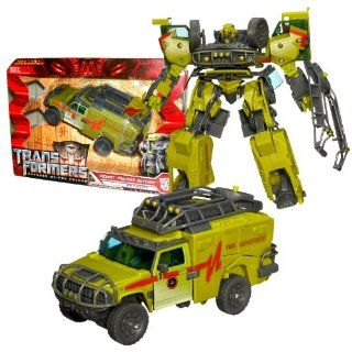 """Hasbro Year 2009 Transformers Movie Series 2 """"Revenge of the Fallen"""" Voyager Class 8 Inch Tall Robot Action Figure   Autobot DESERT TRACKER RATCHET with Hidden Axe and Automorph Forearm Cannon (Vehicle Mode : Hummer H2 SUV): Toys & Games"""