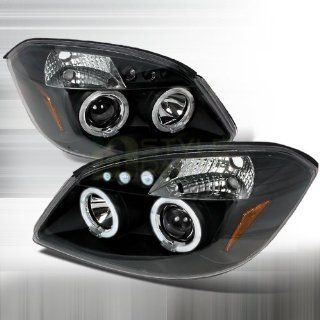 2005 2010 Chevy Cobalt Halo Led Projector Headlights Black: Automotive