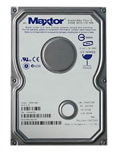 Maxtor DiamondMax Plus 9 200GB Serial ATA Hard Drive Maxtor Internal Hard Drives