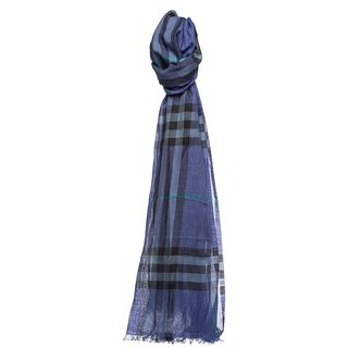 Burberry Women's Giant Check Wool Silk Scarf Burberry Designer Scarves & Wraps