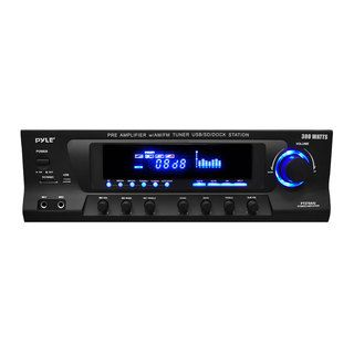 Pyle PT270AIU 300 Watt Stereo Receiver w/ iPod Docking Station, AM/FM, USB, SD Card & Subwoofer Control (Refurbished) Pyle Receivers