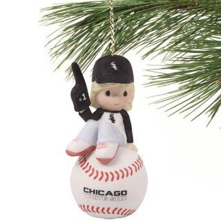 MLB Precious Moments Chicago White Sox Number 1 Fan Girl Ornament Sports & Outdoors