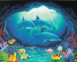 Dimensions Needlecrafts Paintworks Paint By Number, Deep Sea Paradise   Childrens Paint By Number Kits