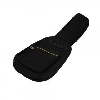 Fast Shipping + Free Tracking Number , Padded Cotton Acoustic Electric Guitar Bag Case Black / Dual Adjustable shoulder strap / Zippered Accessory Pocket Musical Instruments