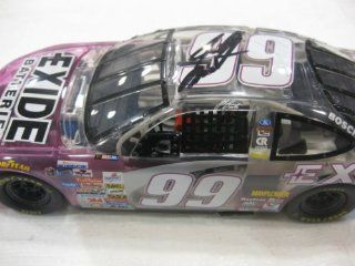 Nascar Die cast 1 24 Scale Stock Car #99 Jeff Burton Exide Batteries Clear Purple Ford Taurus: Toys & Games