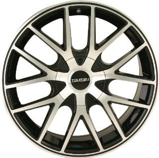 Touren TR60 18 Machined Black Wheel / Rim 5x4.5 & 5x120 with a 20mm Offset and a 74.1 Hub Bore. Partnumber 3260 8804B: Automotive