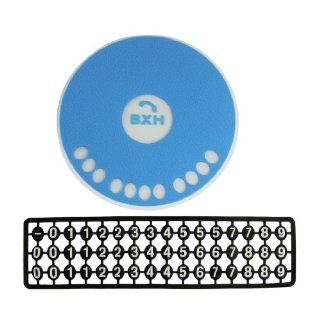 Round Blue Gel Sticky Pad Car Parking Card Telephone Number Non Slip Mat Automotive