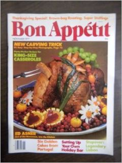 Bon Appetit Magazine November 1977 (Volume 22 Number 11): Paige Rense: Books