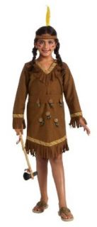 Native American Indian Girl Kids Costume, Large Toys & Games