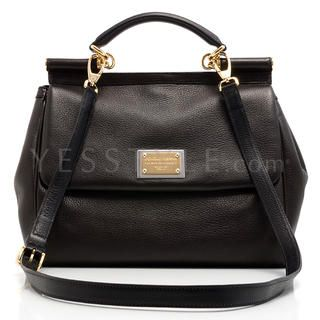 Miss Sicily Large Size Bag, Brown   Dolce & Gabbana