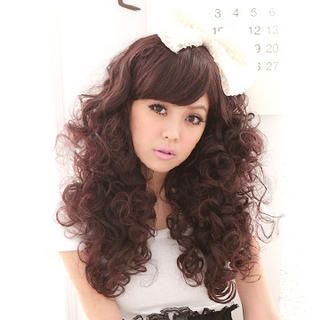 Long Costume Wig   Wavy, Coffee , One Size   Clair Beauty