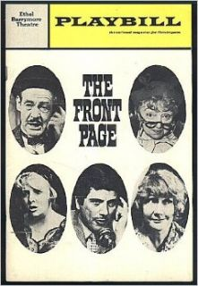 The Front Page At the Ethel Barrymore Theatre, Starring Robert Ryan and Peggy Cass (Playbill, Volume 6, Number 12, December 1969): Joan Alleman Rubin: Books