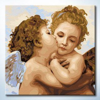 "DiyOilPaintings Baby Angel's Kiss Paint By Number Kits, 16""x16"" Paint By Numbers Kits for Kids: Arts, Crafts & Sewing"