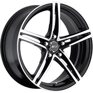 MSR 48 18 Machined Black Wheel / Rim 5x4.25 with a 42mm Offset and a 72.64 Hub Bore. Partnumber 4829745: Automotive