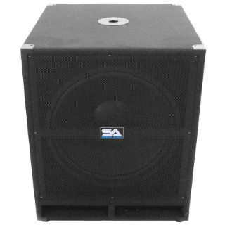 Seismic Audio Tremor_18 PW   Powered PA 18 Inch Subwoofer Speaker Cabinet Musical Instruments