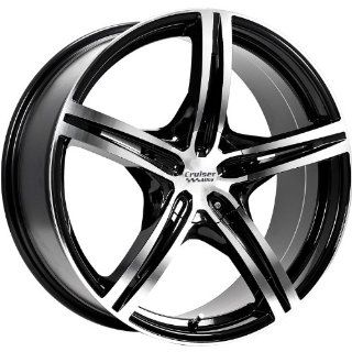 Cruiser Alloy Eclipse 15 Machined Black Wheel / Rim 5x100 & 5x4.5 with a 40mm Offset and a 73.1 Hub Bore. Partnumber 917MB 5751840: Automotive