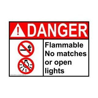 ANSI DANGER Flammable Sign ADE 3195