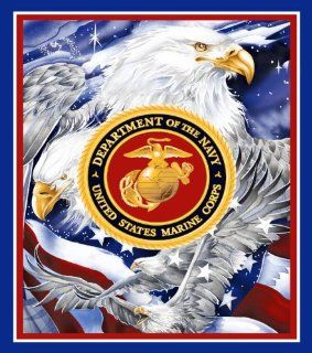 Us Marine Corps Military Fleece Blanket with Marine Corps Seal and EAGLES: Everything Else
