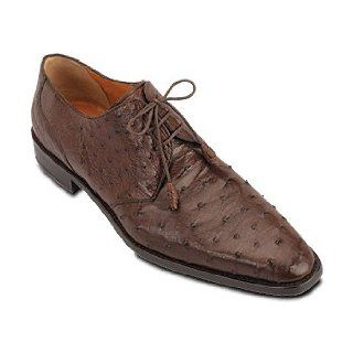 Mezlan Genuine Ostrich Tie in Black or Tobacco: Shoes