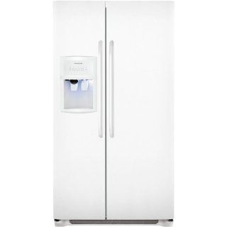 Frigidaire FFHS2622MW 26 Cu. Ft. Side By Side Refrigerator   White: Appliances