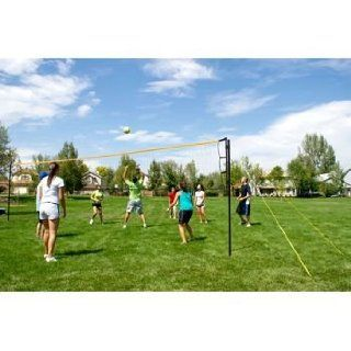 Volley Flex Volleyball System by Park & Sun Sports 2 piece Telescopic Aluminum Pole, Unlimited Height Settings, Carrying Bag, Ball, & Pump: Everything Else