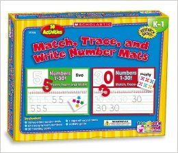 Hands On Learning: Match, Trace and Write Numbers Mats (Scholastic Hands On Learning): Karen Sevaly: 9780439823845: Books
