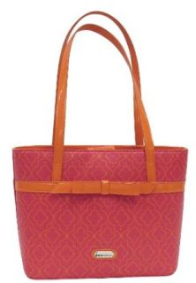 Zoe Sundae Lattice Medium Tote Handbag Pink: Clothing