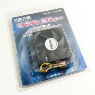 Mad Dog Multimedia WhisperFan Case Fan (MD 80MM CF UC) (MD 80MM CF UC)  Desktop Computer Fans  Camera & Photo