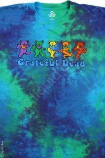 Grateful Dead Dancing Bears Shirt (Tie Dye), X Large Clothing
