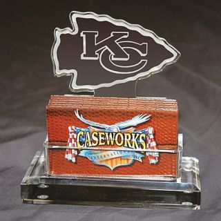 Kansas City Chiefs NFL Logo Desktop Acrylic Business Card Holder