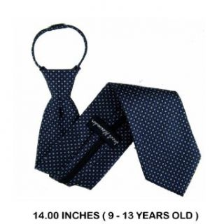 B ZIP G 8005   Black   Blue   Silver   Boys Zipper Tie: Clothing