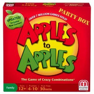 Apples to Apples Party Box   The Game of Crazy Combinations (Family Edition): Toys & Games