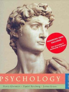 Psychology (Seventh Edition) (9780393977684): Henry Gleitman, James Gross, Daniel Reisberg: Books